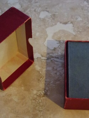 Note how neatly the deck and book fit in the box