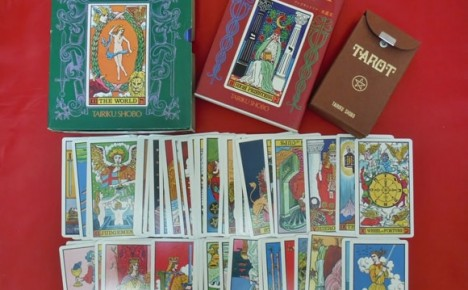 Waite-J.K. Tarot deck with outer box, book, and flip-top box