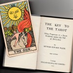 "1931 ""B"" Sun with 1931 The Key to the Tarot book"