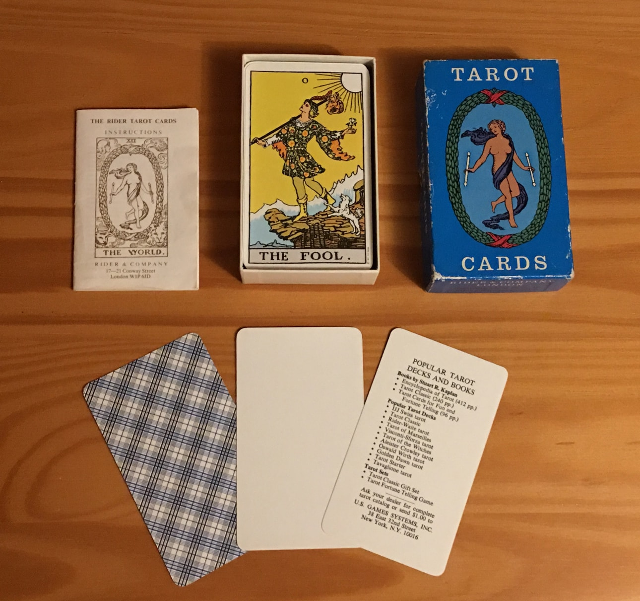 1976 / 1977 Blue Box Rider Tarot deck (last one ever)