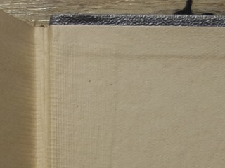 Extreme closeup of the seam binding