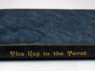 Back cover of 1920 Key with water stain