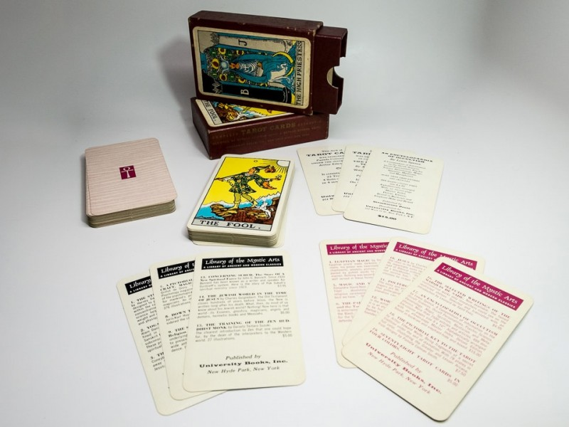 First edition deck with advertisement cards